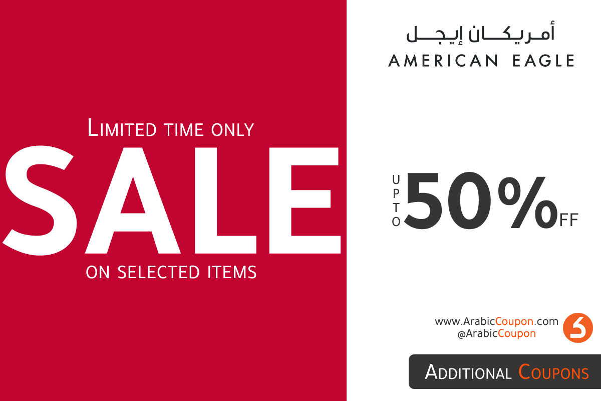 American Eagle August Sale up to 50% on selected items