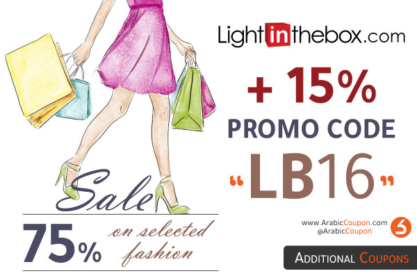 SALE up to 75% from LightInTheBox onn fashion items with 15% additional promo code