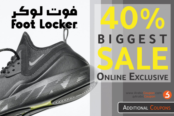 40% FootLocker SALE on selected items (August deals 2020)