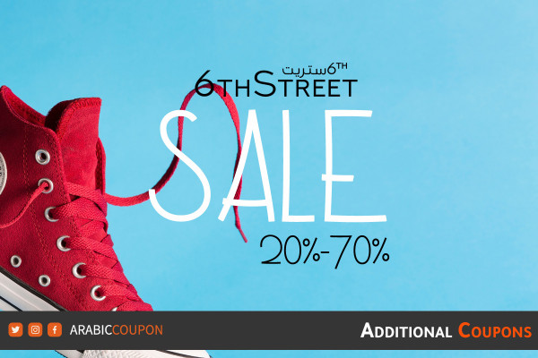 6th Street announced the end-of-season sale up to 70% with extra coupons