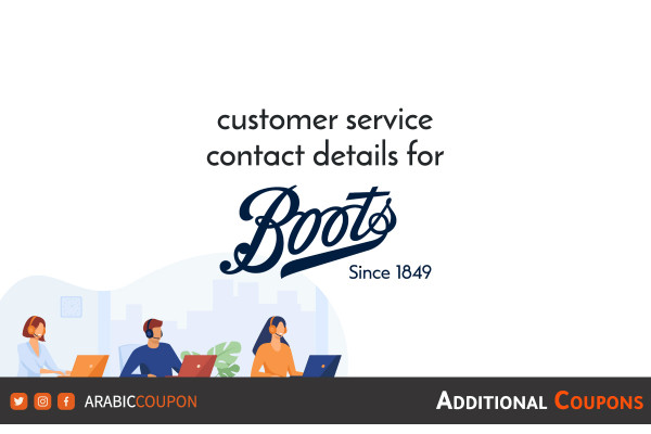 ways to contact Boots customer service with extra coupons