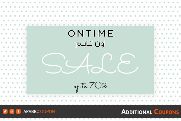 Ontime HUGE SALE up to 70% with an extra coupon & promo code