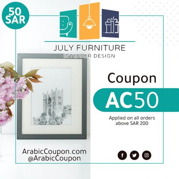 50SAR JULY Furniture promo code - 2020 JULY Furniture coupon - ArabicCoupon
